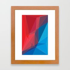 Old triangles Framed Art Print