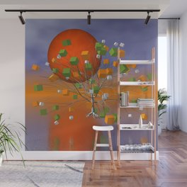 fancy tree and full moon -1- Wall Mural