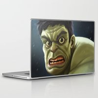 hulk Laptop & iPad Skins featuring Hulk by Jeff Delgado