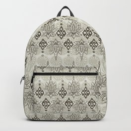 lotus diamond linen Backpack