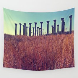National Columns in Autumn Wall Tapestry