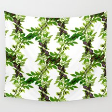 Blueberry Branch in Spring Wall Tapestry