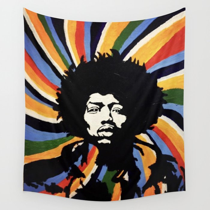 Jimi Hendrix Wall Tapestry by milbornart | Society6