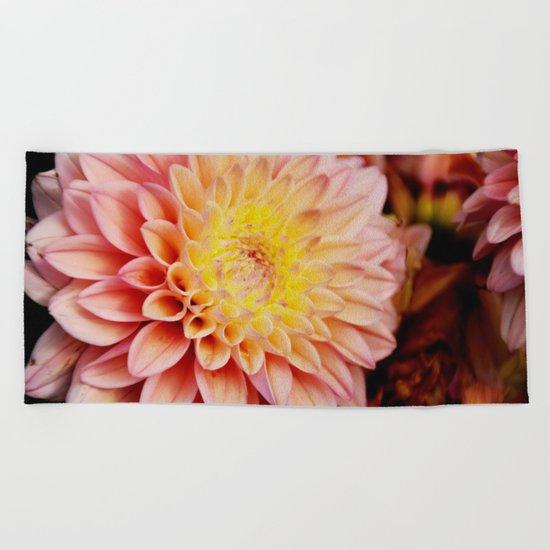 Light pink Dahlia #3 Beach Towel