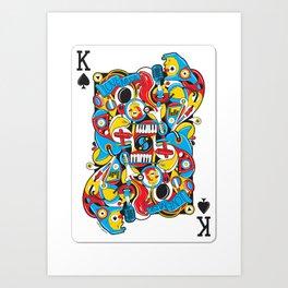 King Of Spades Art Print