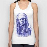 jack sparrow Tank Tops featuring Jack Sparrow by Luna Perri