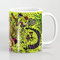 brain Mugs featuring Brain by Art Corner