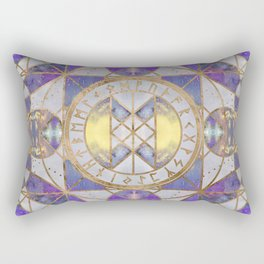 Web of Wyrd - Purple Painted Texture Rectangular Pillow