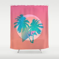 miami Shower Curtains featuring MIAMI by DIVIDUS