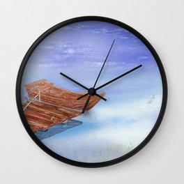 Perfect reflection of beautiful sky | Miharu Shirahata Wall Clock