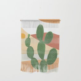 Abstract Cactus II Wall Hanging