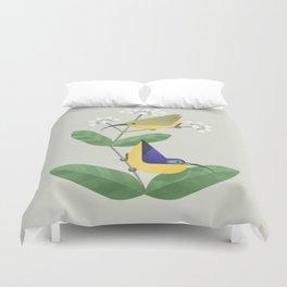 Yellow-bellied Sunbird-asity (cln) Duvet Cover