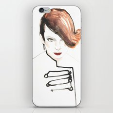Readhead woman iPhone & iPod Skin