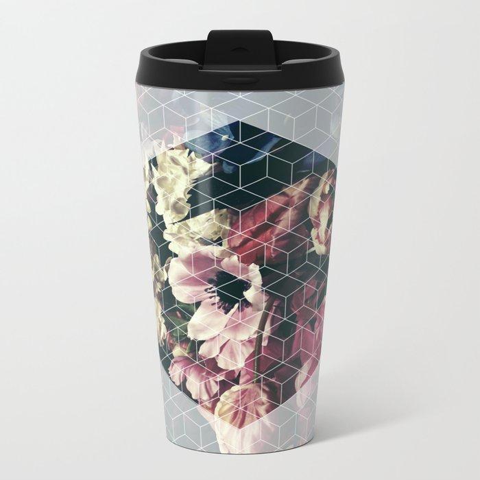 Spring Geometry Metal Travel Mug