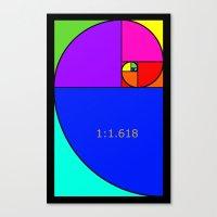 fibonacci Canvas Prints featuring Fibonacci Spiral by Arts and Herbs