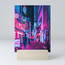 Rushing Into Tokyo's Neon Mini Art Print