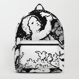 Antique Cherub Bookplate Illustration Backpack