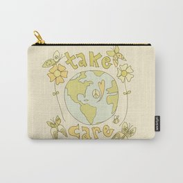 take care of mother earth // retro art by surfy birdy Carry-All Pouch
