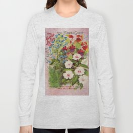 Vintage Flowers Advertisement Collage Long Sleeve T-shirt