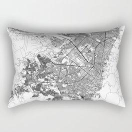 Bogota White Map Rectangular Pillow