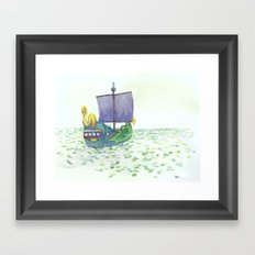 The Sea of Lilies Framed Art Print