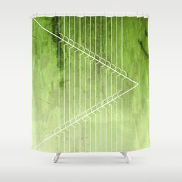 Disrupt - Green Shower Curtain