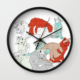 All About Cats Wall Clock