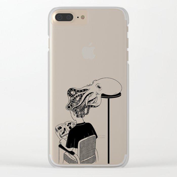 Octopus Salon Clear iPhone Case