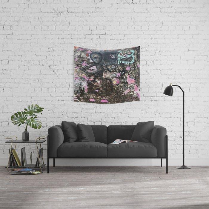 Alien Meditation Wall Tapestry