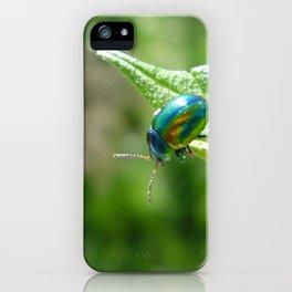 Green beetle iPhone Case