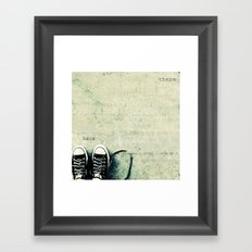 here/there Framed Art Print