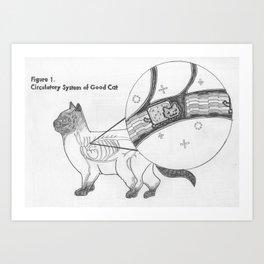 Circulatory System of Good Cat Art Print
