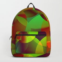 Vector abstract seamless background from space yellow and green bright circles and bubbles for fabri Backpack