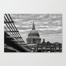 St.Paul's Cathedral in monochrome Canvas Print