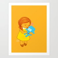 beemo Art Prints featuring holly loves beemo  by holly erinn karnes