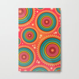 Decorative Abstract Pattern Metal Print