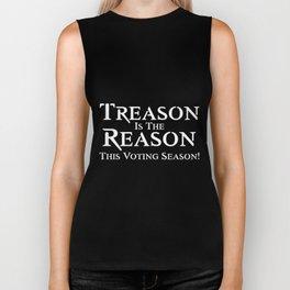 treason is the reason this voting season racing trump Biker Tank