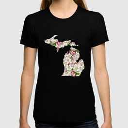 Michigan in Flowers T-shirt