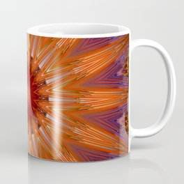 Vibrant Purple Orange Mandala Design Coffee Mug