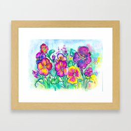 Pansies From My Grandfather's Garden Framed Art Print