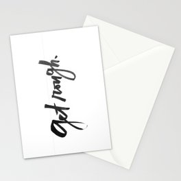 get rough Stationery Cards