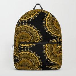 Gold Flower Pattern Backpack