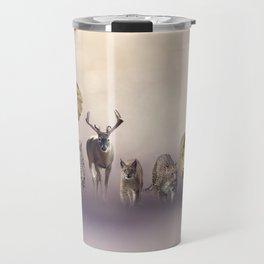 Group of wild animals . Wildlife theme background Travel Mug