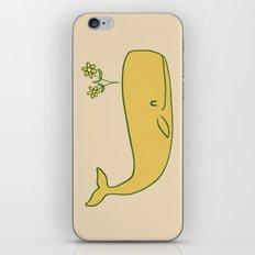 Peace Whale - colour option iPhone & iPod Skin