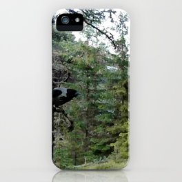 Crow, the forest gate keeper iPhone Case