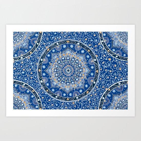 Summer Nights Mandala  Art Print