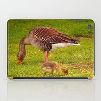 ryan gosling iPad Cases featuring Mother Goose and Gosling by GardenGnomePhotography