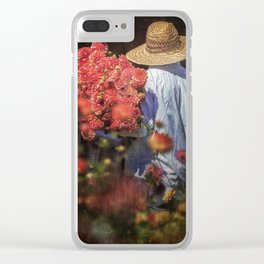 Picking the Flowers Clear iPhone Case