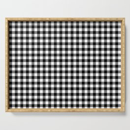 Gingham Black and White Pattern Serving Tray