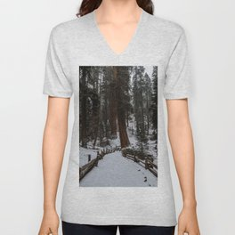 Sequoia Snow Storm Unisex V-Neck